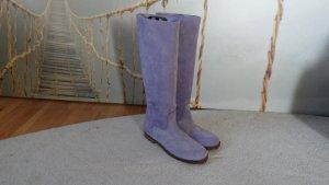 SHABBIES AMSTERDAM Stiefel  Boots Grau Gr. 41 wie Neu Violet