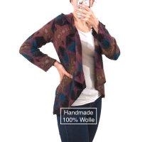 Handmade Wool Jacket multicolored wool