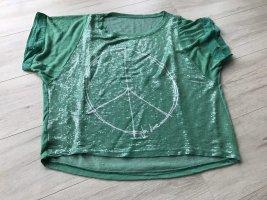 Camicia oversize verde