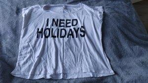 Fishbone T-shirt bianco-nero