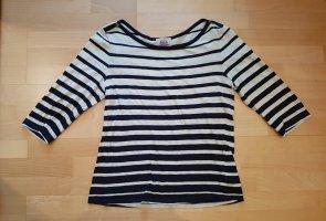 Shirt 3/4 Arm Gestreift Creme Blau Gr.XL Arabella & Addison