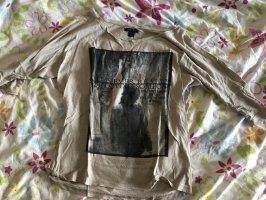 Amisu Manica lunga beige chiaro-grigio
