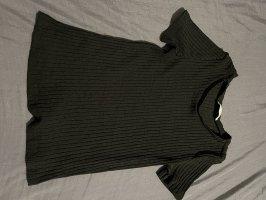Zara Prążkowana koszulka czarny