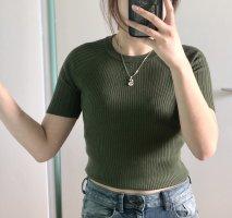 H&M Basic Camicia cropped cachi