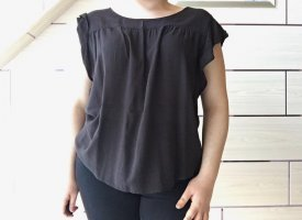 Flame Cowl-Neck Shirt black