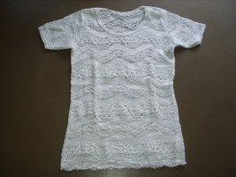 Gehaakt shirt wit Synthetisch