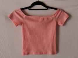 H&M Divided Camisa acanalada albaricoque