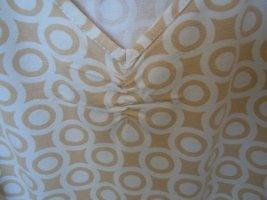 Shirt  beige-weiss  Grafikmuster  Gr. 42