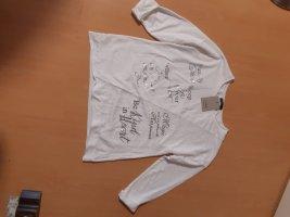 Made in Italy Camisa holgada blanco-color plata Algodón