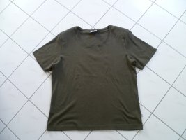 Chico's Basic Shirt olive green cotton