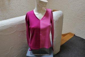 #Shirt, Gr. 36, #pink-fuchsia, #Toffs, #Samteinfassung, #hochwertig