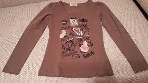 Shirt, Gr.S, Langarm, braun
