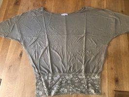 Aniston Cowl-Neck Shirt khaki