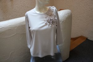 #shirt m. Blumenapplikation, Gr. 38, #beige, #NEU, #Raspberry