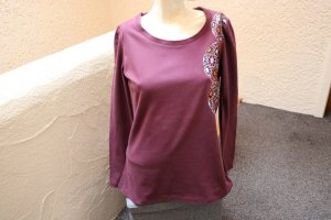 #Shirt m. Print, Gr. 40, #aubergine, #Chillytime, #NEU