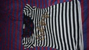 Netshirt zwart-wit
