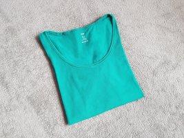 H&M Boothalsshirt petrol-groen Katoen