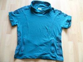 Bonita Sweter bez rękawów z cienkiej dzianiny leśna zieleń Bawełna