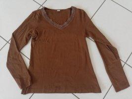Shirt s.Oliver Größe 34 Spitze braun
