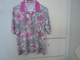 Shirt von RABE Gr. 44 weiß/hellgrau/pink schöne Kopfleiste