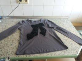 Camicia a tunica nero-argento Cotone