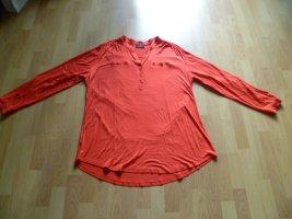 Shirtbluse Longbluse Longshirt von Gina Benotti Gr. 48 mit langem Arm rot