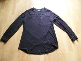 Shirtbluse Longbluse Longshirt von Gina Benotti Gr. 48 mit langem Arm schwarz