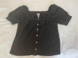 Shirtbluse mit eckigem Ausschnitt