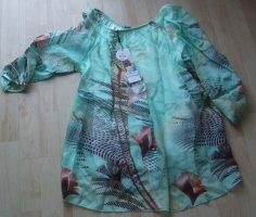Shirtbluse von Public  - Seide & Viskose - Gr. L - mint
