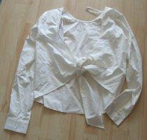 Shirtbluse von Vila - hinten offen und zu binden – Gr.M - ecru