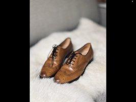 Budapest schoenen cognac Leer