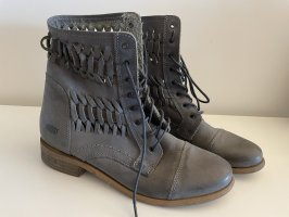 Shoots, Boots mit Flechtoptik, grau, Gr. 38