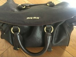 Shopper Handtasche Miu Miu Braun Leder
