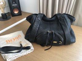 Hugo Boss Shopper black leather