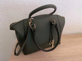 Just Fab Shopper green grey-khaki leather