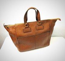 Vintage Weekender Bag multicolored leather