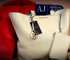 Armani Jeans Carry Bag white-blue