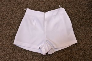 High-Waist-Shorts white polyester