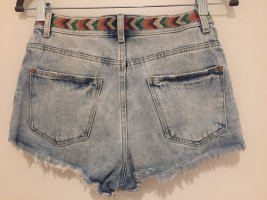 100% Fashion High waist short azuur