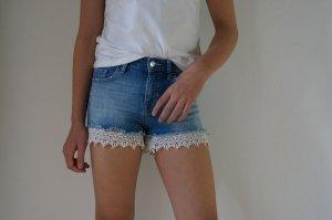 Pimkie Pantaloncino di jeans bianco-blu