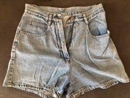 High-Waist-Shorts azure