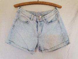 H&M DENIM Pantalón corto de tela vaquera azul celeste
