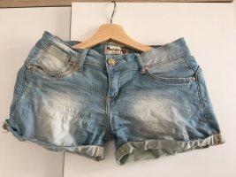 Monday Pantalón corto azul celeste-gris pizarra