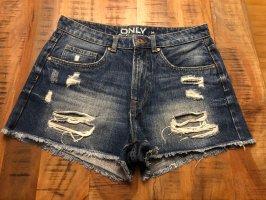 Only Shorts white-dark blue