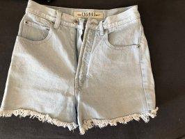 Cosmos High-Waist-Shorts pale blue