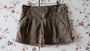 Shorts aus Baumwolle, mit Bundfalte