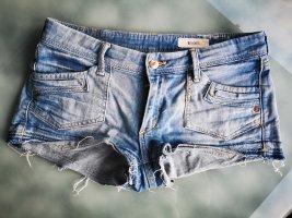 H&M Hot pants azuur-staalblauw Katoen