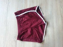 Pantalón corto deportivo rojo neón-rojo oscuro