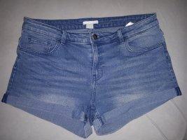 H&M Denim Shorts slate-gray-blue