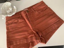 H&M Pantalón corto naranja oscuro